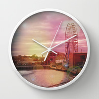Seeing Another World - ReMix Wall Clock by Suzanne Kurilla