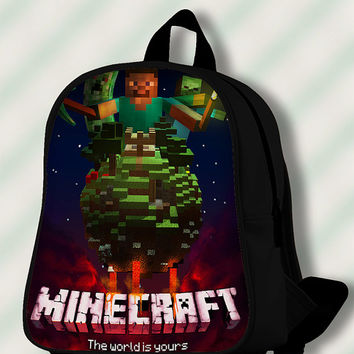 Minecraft the World is Yours - Custom SchoolBags/Backpack for Kids.