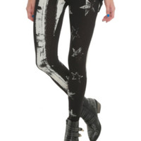 Stars And Stripes Black Leggings