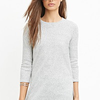 Ribbed Knit Longline Top