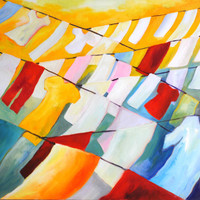 "Original Oil Painting ""Linearity II"""