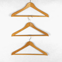 Vintage Suit/Trouser Hangers Wooden Angled West Germany Set of Three Guest Room