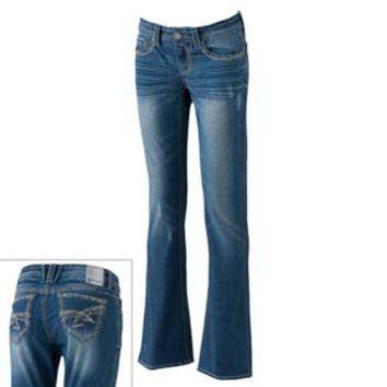 Hydraulic Studded Slim Bootcut Jeans - Juniors