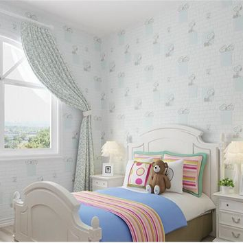 beibehang Children's nonwoven wallpaper bedroom boys girls room clothing store hotels fashion simple papel de parede wall paper