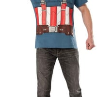 Captain America The Winter Soldier Retro T-Shirt Kit Adult