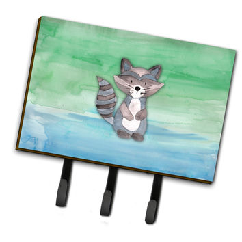 Raccoon Watercolor Leash or Key Holder BB7438TH68