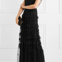Needle & Thread - Jet Frill ruffled embellished tulle gown