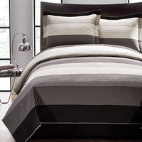 Charcoal Modern 3 Piece Quilt Sets - Quilts & Bedspreads - Bed & Bath - Macy's
