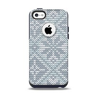 The Knitted Snowflake Fabric Pattern Apple iPhone 5c Otterbox Commuter Case Skin Set
