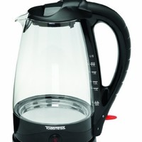 Toastess TGK486 Cordless Glass Kettle,Black