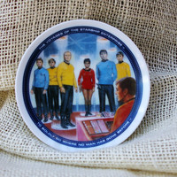 Vinatge Star Trek collectors mini plate- STARSHIP ENTERPRISE