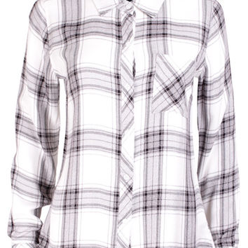 Hunter Grey & White Check Shirt