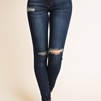 Next Step Distressed Jeans (Dark Wash)