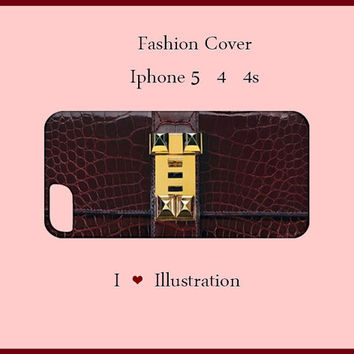 Iphone 5/4/4s Case-wine red Iphone 5 Case-fashion cover-Iphone 5 case,Iphone 5 cover,clutch Iphone cover,Iphone 4/4s case, Iphone 4/4s cover
