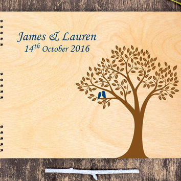 Wood Guest Book, Wood Wedding Guest Book, Love Birds Guest Book, Elegant Guest Book Wood, Guest Book Tree, Wood Wedding Book, Wedding Tree
