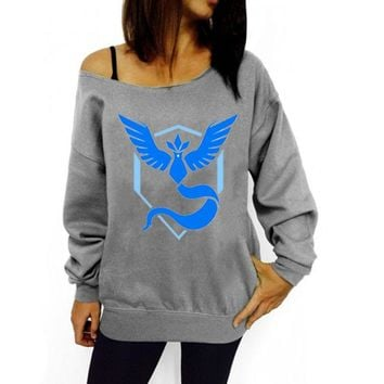 Off the Shoulder Team Mystic Sweater - Pokémon