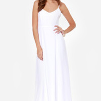 BB Dakota Loulla White Maxi Dress