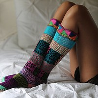 Ariana Bohling Womens Lounge Around Slipper Sock - Multi One
