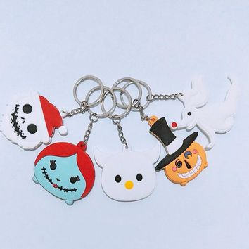 The nightmare before Christmas ornament Jack is a key ring Sally zero zero jack silicone key ring hang gift