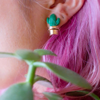 Moody Cactus Earrings