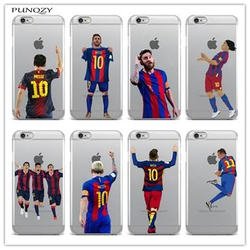 Sport Football Soccer Star Messi Case For iphone 6 6S 7 7Plus 5 5S SE 4 4S 5C transparent soft Silicone Mobile phone shell cover