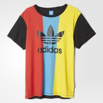 """Adidas"" Casual Multicolor Pattern Letter Short Sleeve T-shirt"