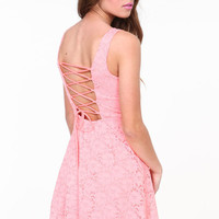 LACE UP SKATER DRESS