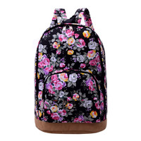 2016 Brand Floral Print Canvas Backpack Women Mochilas School Bags for Teenage Girls Female Bookbags Mochila Feminina Backpacks
