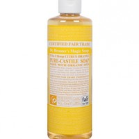 Citrus Orange Castile Liquid Soap - 16 Oz.