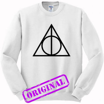 Deathly Hallows for sweater white, sweatshirt white unisex adult