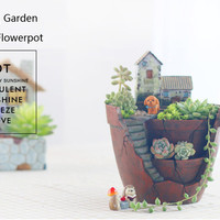 Creative Succulent Plants Flowerpot Resin Green Plant Micro Landscape Decoration Planter - Banggood Mobile