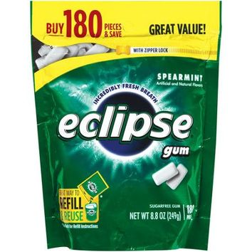 Eclipse Spearmint Sugarfree Gum Refill, 180 pieces, 8.8 oz - Walmart.com