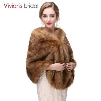 Women Wedding Cape Wedding Warm Fur Stole Wedding Accessories Bridal Cape