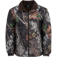 Mossy Oak Men's Mid Weight Camo Hunting Jacket Cold Weather Coat, Large