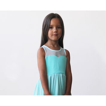 Turquoise sweetheart princess dress