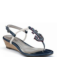 """Sperry Top-Sider """"Delray"""" Anchor Wedge Sandals   Bloomingdale's"""