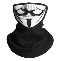V for Vendetta Scarf Magic Neck Face Mask Headband Skeleton Party Headwear Paintball Headband Neck Bandana Cosplay Costume