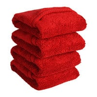 Home Source International MicroCotton® Luxury Set Of 4 Wash Cloths