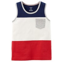 Toddler Boy Carter's Red, White & Blue Pocket Tank Top | null