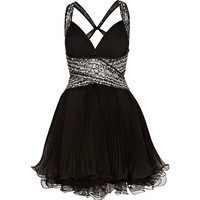 River Island Womens Black Forever Unique embellished dress