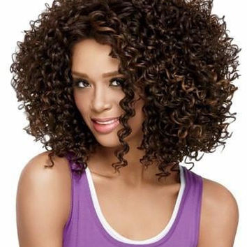 African American Wigs Synthetic Fiber Short Afro kinky Curly Hair Wigs for Black Women Lace Front U Part Wigs SW0444