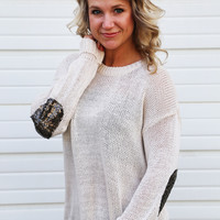 You And Your Sequin Knit {Beige}