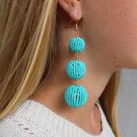 Beaded Bon Bon Earrings- Multiple Colors