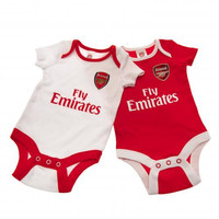Arsenal FC - Cute Baby Onesuits 2 pack