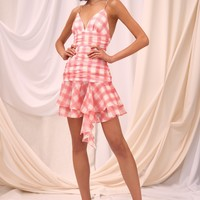 C/MEO COLLECTIVE SOLACE MINI DRESS ivory check