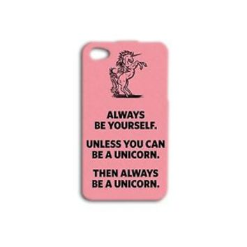 Cute Pink Unicorn Case Funny Phone Cover iPhone 4 5 5c 5s 4s 6 6s Plus Hot iPod