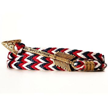 New England Jack Archer Bracelet in Red, White, and Navy by Kiel James Patrick