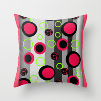 Dots series # 344. Digit Art Throw Pillow by Mittelbach Marenco Florencia