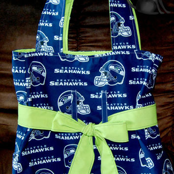 Seattle Seahawks BeltedTie Handbag by KraftyKreations4You on Etsy