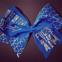 """3in. Hologram Arrow Cheer Bow """"To Be On Point ... Focus & Take Aim"""""""